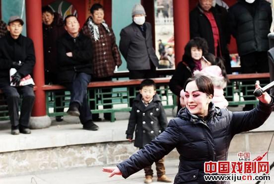 大大小小的歌剧迷们在户外观看了金歌剧艺术家们精彩的表演。