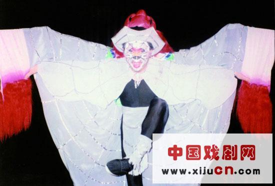 浙江京剧团在京韵广场排练中日联袂音乐剧《金色凤凰》(照片)