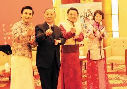 梅宝九推广大型戏剧《梅兰芳》
