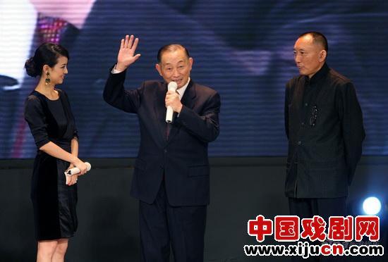 梅宝九在梅兰芳首映式上现场表演京剧