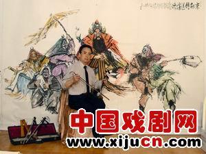 李惠山致力于京剧题材的创作