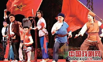 青岛京剧表演红色经典剧目《布谷鸟山》