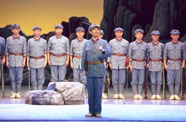10月5日,中国平剧剧院上演了《金沙江畔》
