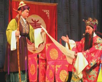 京剧已经成为他们婚姻的红线。
