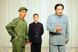 刘蓉生京剧团加紧排练现代京剧《指出江山》