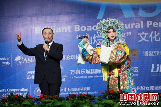 梅宝九和弟子胡文阁出席博鳌亚洲论坛2012年年会