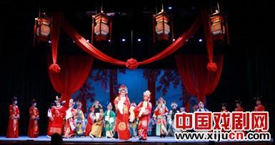 神木县金剧团上演新的大型金剧《杨家镇传奇》