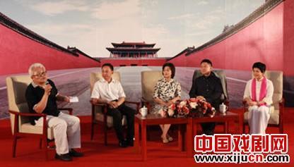 """余奎志、李胜素、蒋岐狐和关波说:""""中国京剧可以走向世界。"""""""
