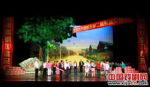 大型现代歌谣《银杏庄》在大兴剧院演出。