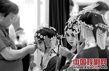 """""""我是一个高亢的中国孩子""""首届校园京剧艺术节在梅兰芳大剧院举行。"""