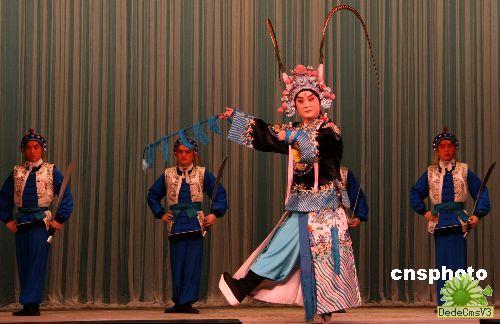 台北著名中国歌剧明星和戏剧的排练