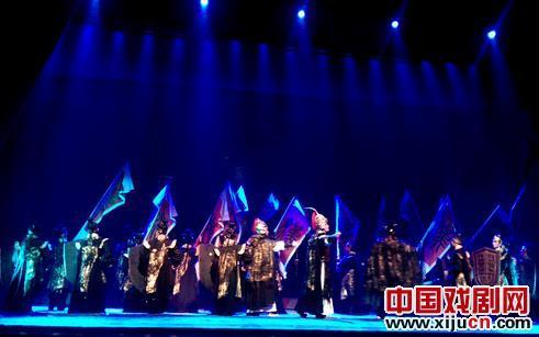 井陉县金剧团首演金歌剧《回水之战》
