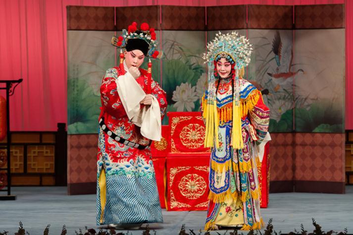 天津评剧白排剧团演出歌剧《齐杰》评剧《大金枝》