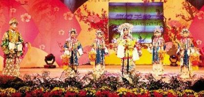 台州市首届京剧投票者的精彩表演