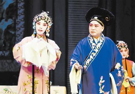 天津平菊白排剧团表演珍珠衬衫青年版