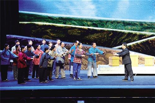 介休市绵山金剧团演出了大型现代金剧《焦尤鲁》