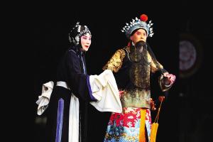 """吕洋和常东的两位""""梅花奖""""得主领衔演出《红鬃和凶马》"""
