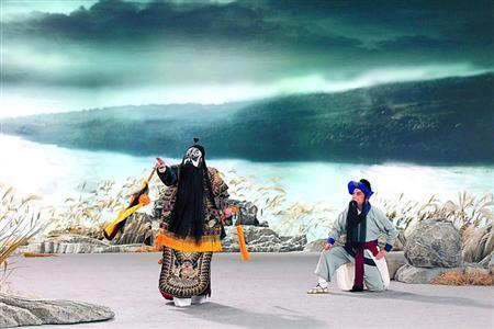 京剧电影《霸王别姬》和《小荷追月下的韩信》在清华大学首映