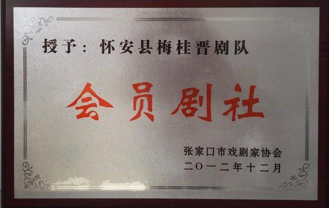 淮安县柴沟堡镇广安街社区艺术活动中心梅金桂戏剧队