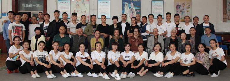 山西金剧院共青团在榆县南关村演出