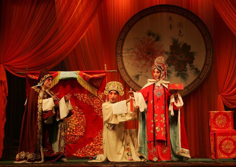 下午,天津平剧剧院上演平剧《杜十娘》