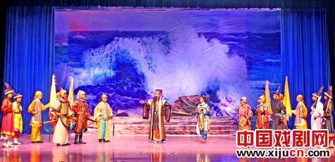 天宝评剧艺术团表演新历史评剧《白狼山之战——曹曹征五环》