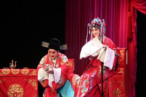 平剧《汉华友》是三大艺术流派精品子剧的特殊表现。