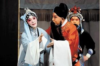 天津平举白排剧团在西青区文化中心剧院演出