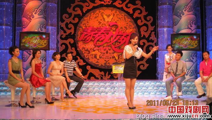 央视录制平剧青年演员表演鼓舞士气