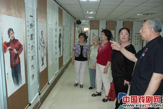 """山东举办""""中国魅力""""京剧人物书法展"""