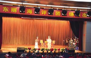 天津市东丽区海兴评剧团举行特别演出